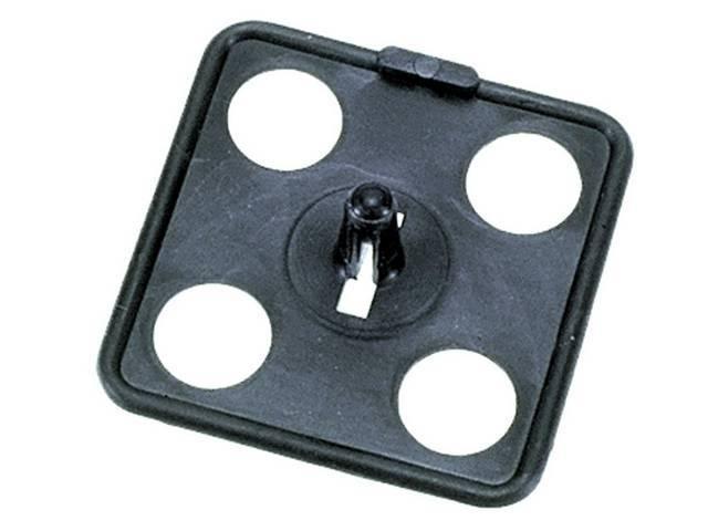 Hood Insulation Retainer, 2 Inch Square Push-In, repro