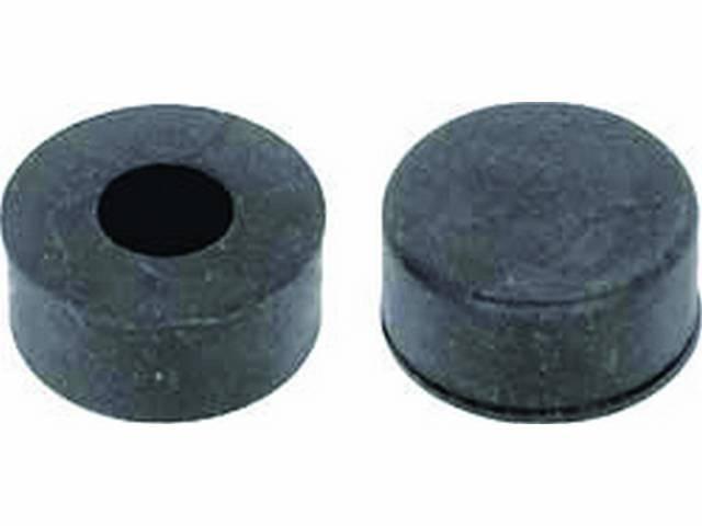 RUBBER BUMPER KIT, Hood, Front Adjustment Cap, (2),