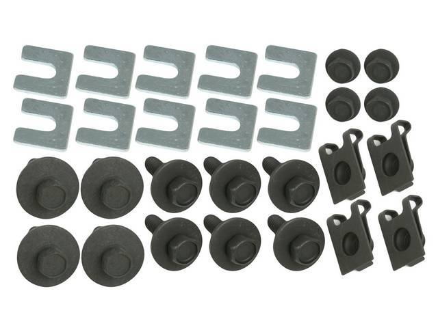 FASTENER KIT, Fenders, (26) Incl HX CONI SEMS, U-Nuts and Shims