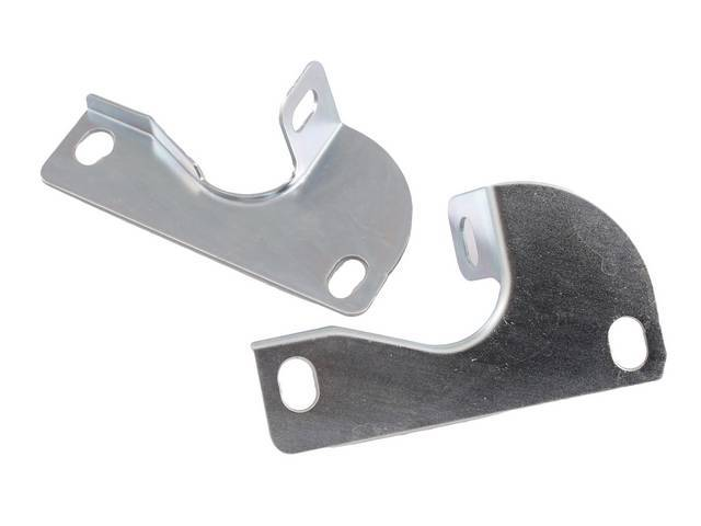 BRACKET SET, Radiator Support To Fender, attaches between front of the fender and core support, provides rigidity to the body of the car, silver cad plated, repro