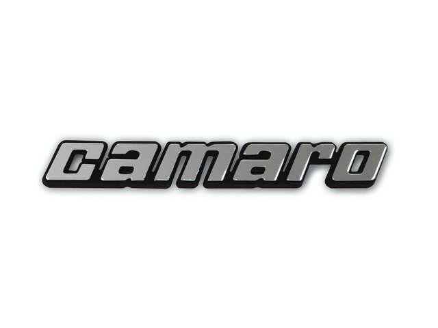 Emblem Front Fender Camaro Chrome Face W/ Black