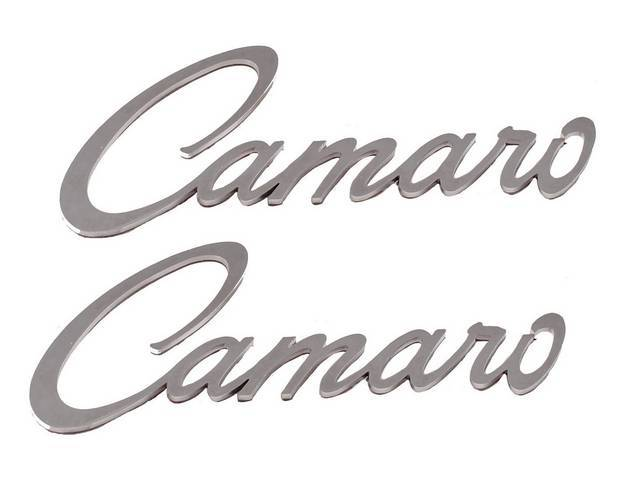 Emblem Set, Front Fender, *Camaro*, Mirror Polished Stainless,