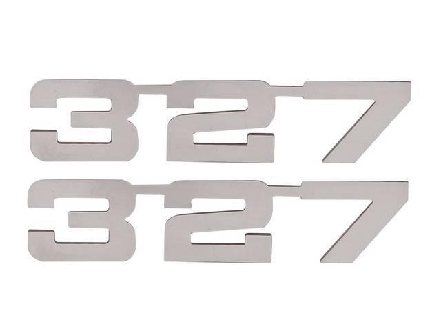 Emblem Set, Fender, *327*, Mirror Polished Stainless, 3M
