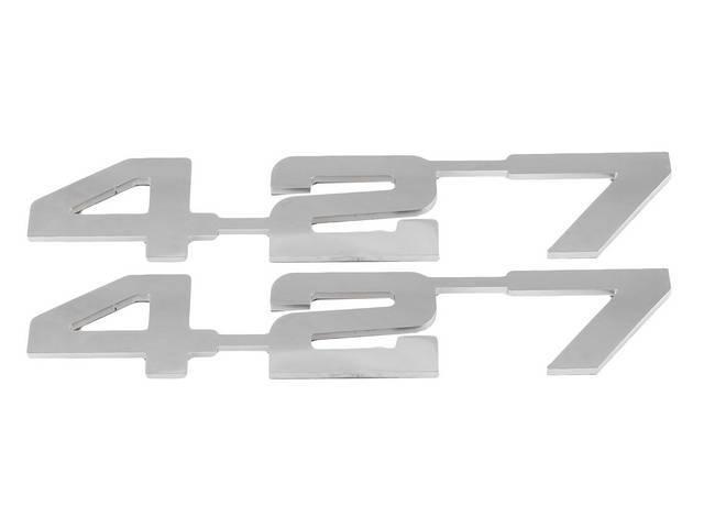 Emblem Set, Fender, *427*, Mirror Polished Stainless, 3M