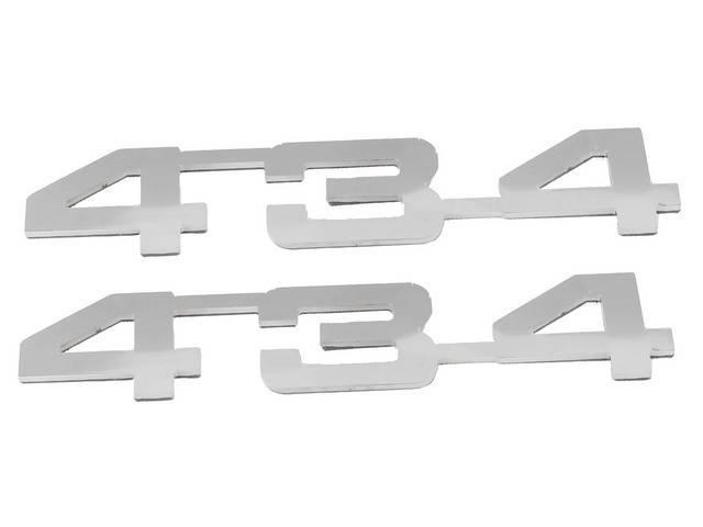 Emblem Set, Fender, *434*, Mirror Polished Stainless, 3M