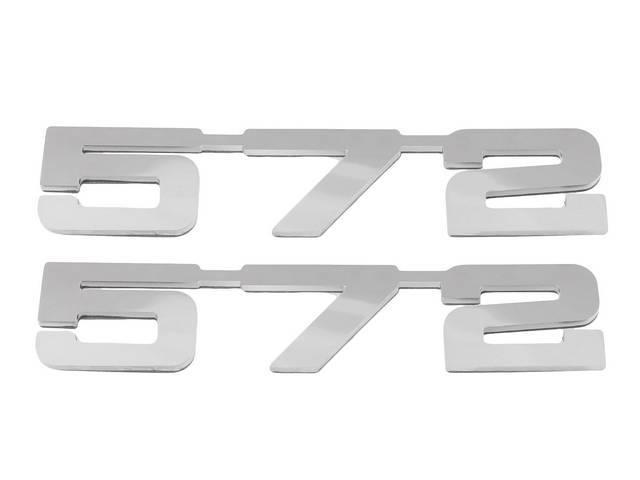 Emblem Set, Fender, *572*, Mirror Polished Stainless, 3M