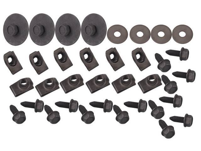FASTENER KIT, Wheelhouse, (36) Incl Screws, HX CONI