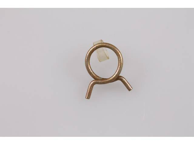 CLAMP, Heater Hose, Corbin Wire Spring Type, use w/ 5/8 inch o.d. heater hose, gold finish