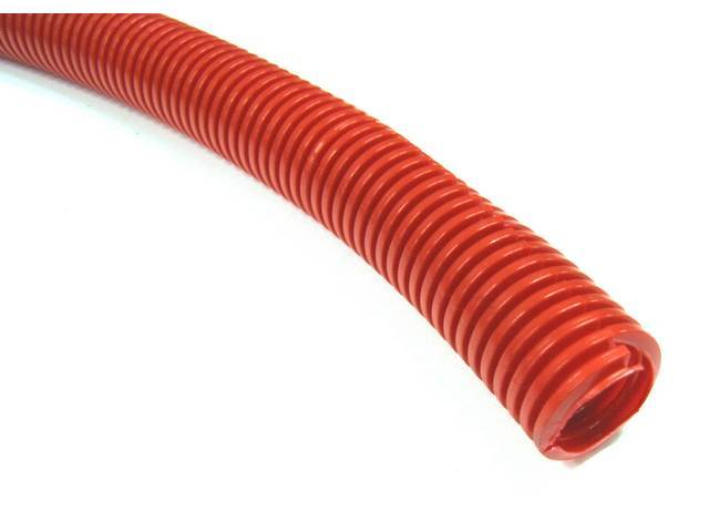 WIRE CONDUIT, FLEXIBLE PLASTIC, 3/4 inch i.d. RED,