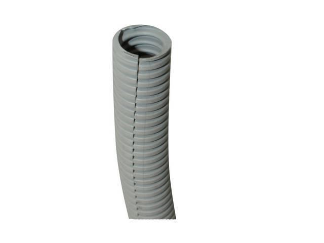 WIRE CONDUIT, FLEXIBLE PLASTIC, 3/4 inch i.d. GRAY, SOLD PER FOOT