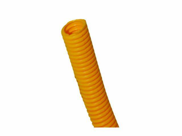 WIRE CONDUIT, FLEXIBLE PLASTIC, 3/4 inch i.d. YELLOW,