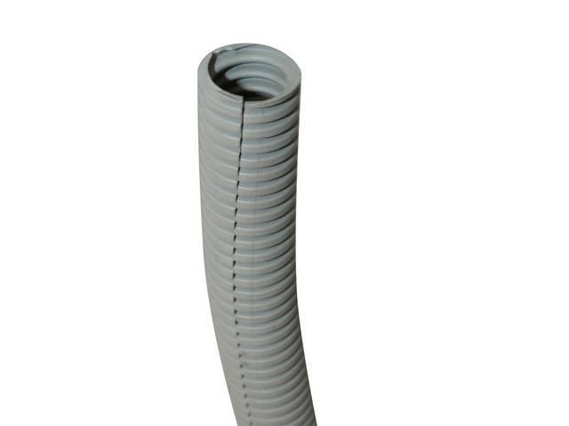 WIRE CONDUIT, FLEXIBLE PLASTIC, 1 inch i.d. GRAY,