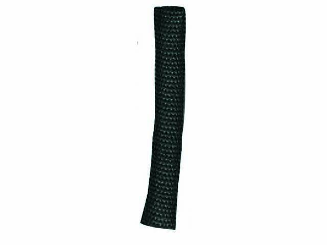 WIRE LOOM, Black Fabric, 3/8 inch i.d., self-wrapping, OE appearance, sold by the foot