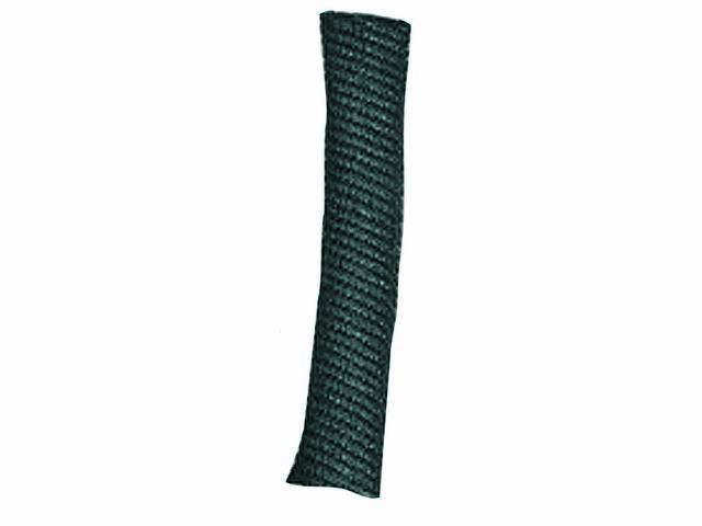 WIRE LOOM, Black Coated Fabric, 1/2 inch i.d.,