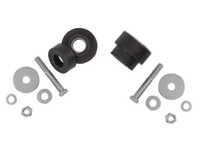 BUSHING KIT, Body Mount Supplement, Rubber, (12) incl