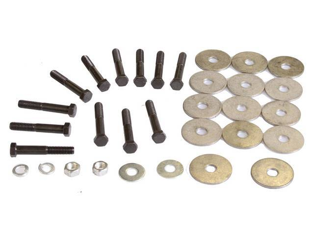 HARDWARE KIT, Frame / Body Mount and Radiator Core Support, replacement-style hardware