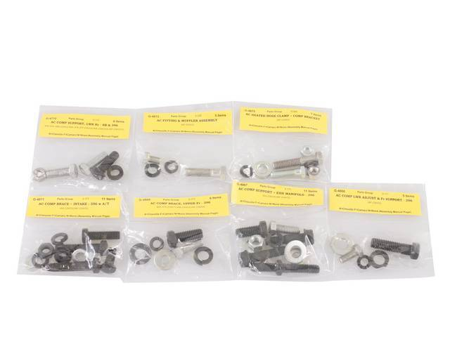 FASTENER KIT, A/C Components to Engine, Concours Correct
