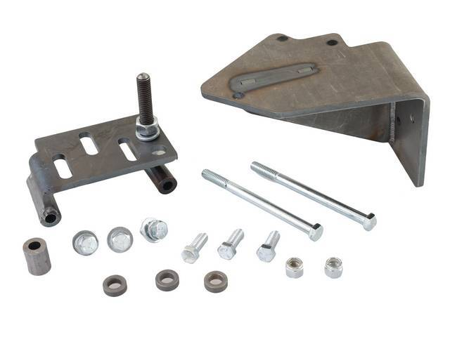 BRACKET AND HARDWARE KIT, Compressor Mounting, for use w/ Classic Auto Air *Perfect Fit* A/C system and/ Classic Auto Air *Compressor Upgrade*, US-Made