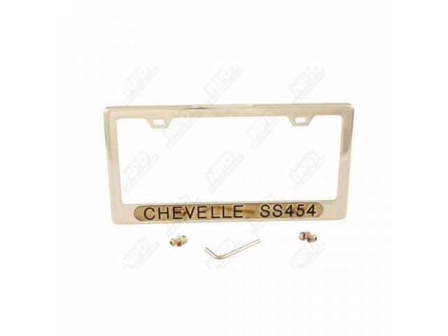 Frame License Plate Gold Frame W/ Chevelle Ss454