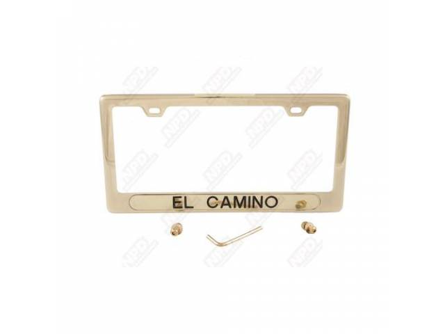 Frame License Plate Gold Frame W/ El Camino