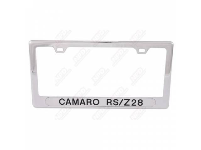 Frame License Plate Chrome Frame W/ Camaro Rs/Z/28