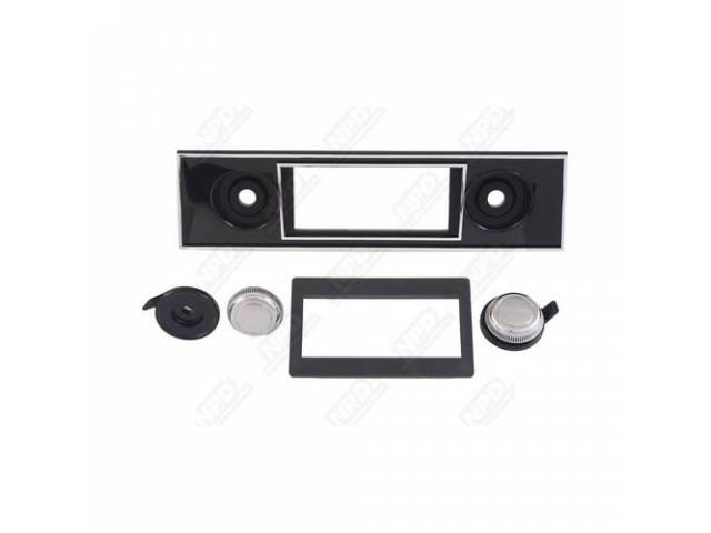 Bezel And Knob Kit Radio Trim For Use