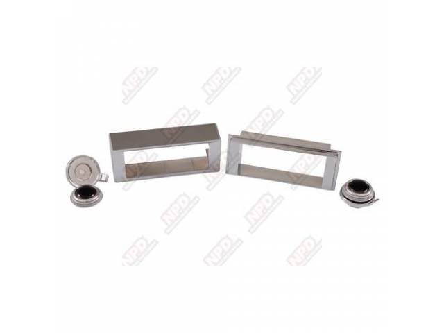BEZEL AND KNOB KIT, Radio Trim, for use