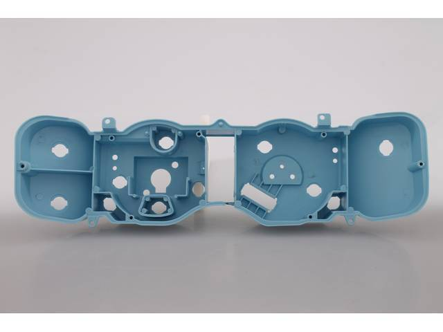 CASE, Instrument Cluster, Injection molded plastic in blue