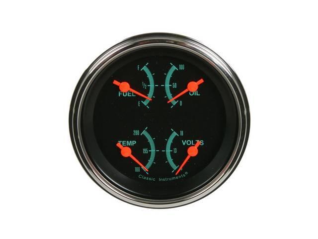 Quad Gauge Classic Instruments G-Stock Incl Fuel 240-33