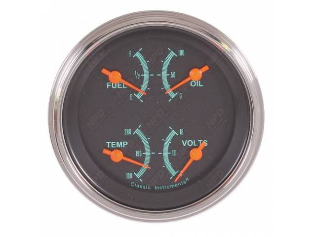 QUAD GAUGE Classic Instruments G-Stock has fuel 78-10