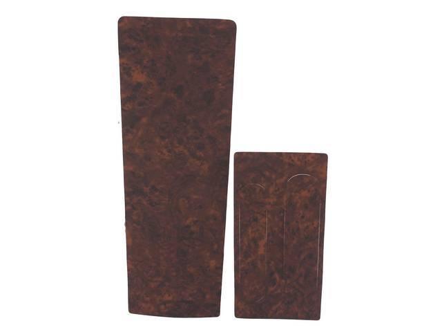 APPLIQUE / INSERT KIT, Console, vinyl burlwood wood