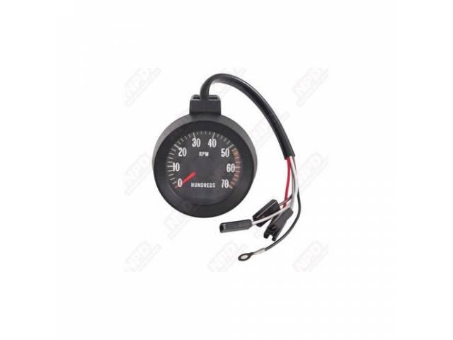 Tachometer 7000 Rpm Range W/ 5000 Redline Incl