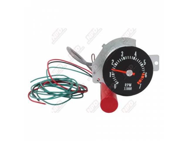 Tachometer In-Dash Conversion Clock Replacement 7000 Rpm Range