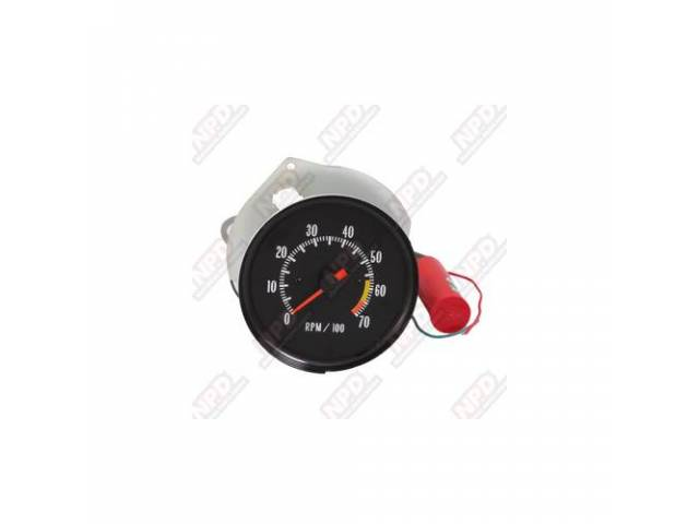 Tachometer In-Dash Conversion Clock Replacement 7000 Rpm Range