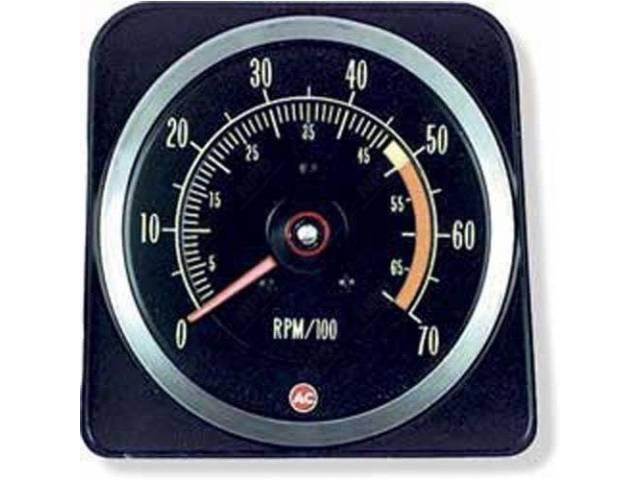Tachometer 7000 Rpm Range W/ 5000 Redline W/