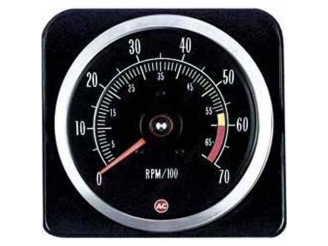 TACHOMETER, 7000 rpm range w/ 5500 redline, W/