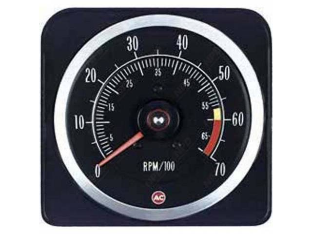 Tachometer 7000 Rpm Range W/ 6000 Redline W/