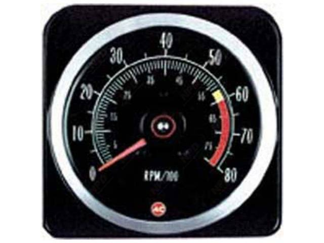 Tachometer 8000 Rpm Range W/ 6000 Redline W/