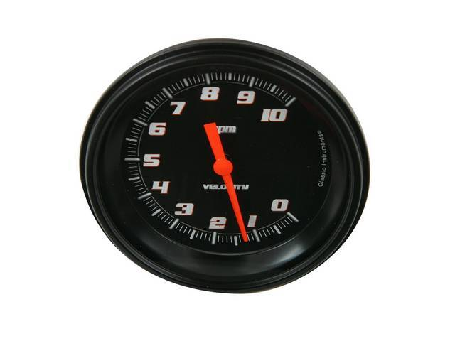 Gauge Tachometer Classic Instruments Velocity Black Series Gauge