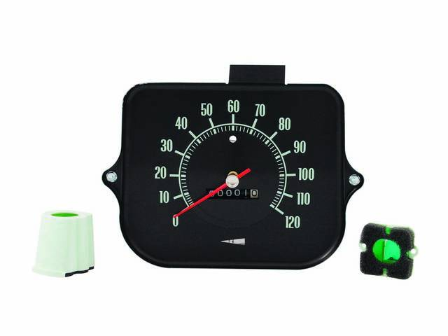 HEAD ASSY, Speedometer, 120 MPH W/O speed warning,