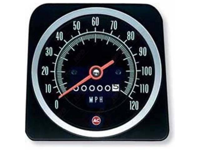 Head Assy Speedometer 120 Mph W/O Speed Warning