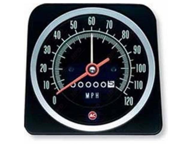 Head Assy Speedometer 120 Mph W/ Speed Warning