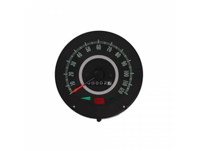 HEAD ASSY, Speedometer, 120 MPH w/ gauge package,