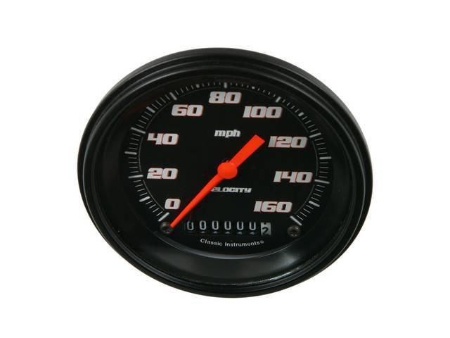 Gauge Speedometer Velocity Black Series Gauge Has Orange