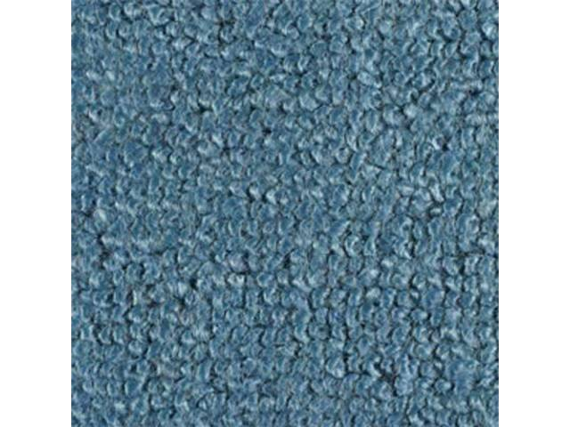 Carpet Raylon Loop Style Two Piece Light Blue