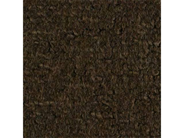 CARPET, Molded, Raylon (Loop Style), 2-piece, Dark Saddle,