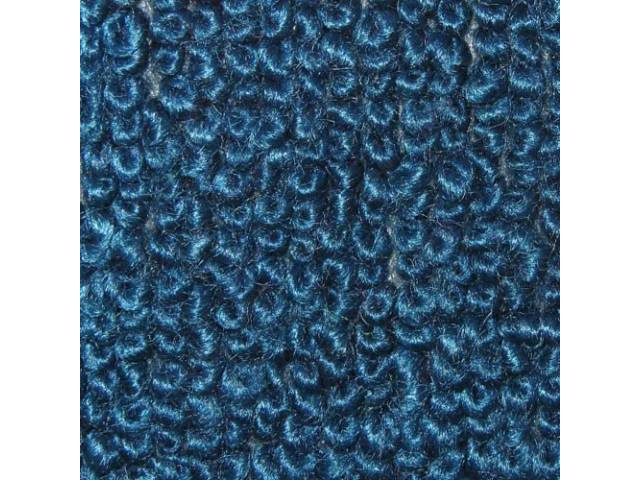 Carpet Raylon Loop Style Two Piece Bright Blue