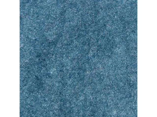 CARPET, Molded, Cut Pile, 2-piece, Medium Blue, A/T,