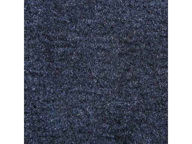 CARPET, Molded, Cut Pile, 2-piece, Dark Blue, A/T,