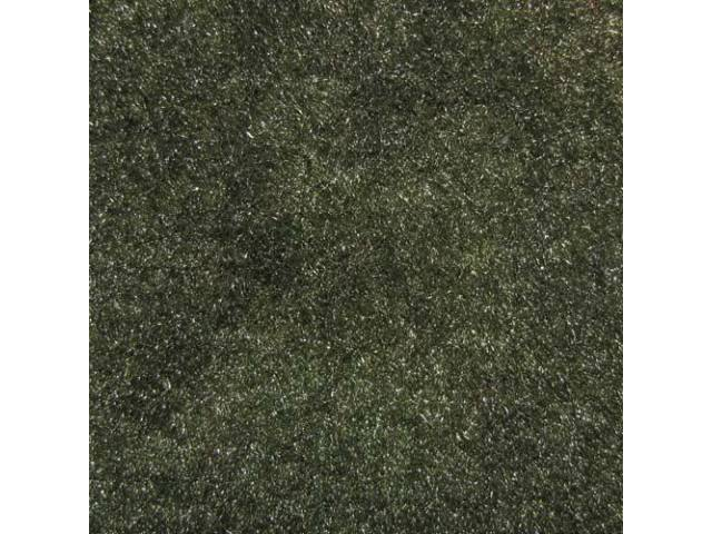 CARPET, Molded, Cut Pile, 2-piece, Dark Green, A/T,